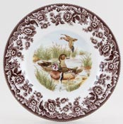 Spode Woodland brown with colour Side or Cheese Plate Wood Duck