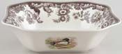 Spode Woodland brown with colour Salad Bowl Deer, Mallard and Pheasant