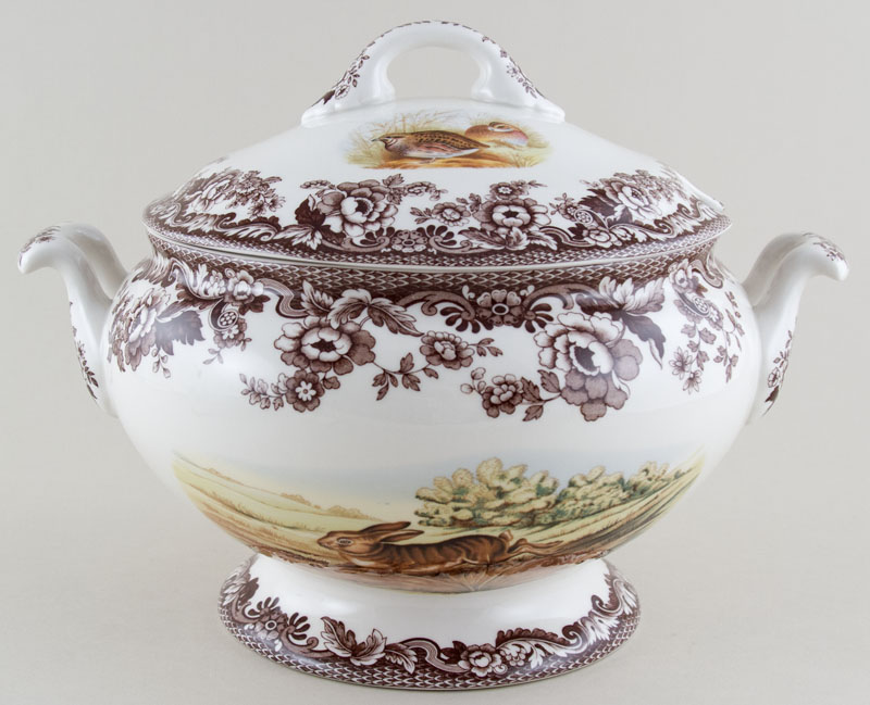 Spode Woodland brown with colour Soup Tureen