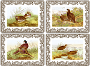 Spode Woodland brown with colour Placemats Pack of Four