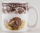 Spode Woodland brown with colour Mug Turkey