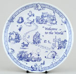 Plate Welcome to the World
