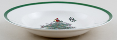 Spode Christmas Tree colour Soup Plate