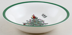 Spode Christmas Tree colour Soup or Dessert Plate