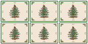 Spode Christmas Tree colour Placemats Pack of Six