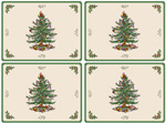 Spode Christmas Tree colour Serving Mats Set of Four