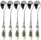 Spode Christmas Tree colour Tea Spoons Set of Six