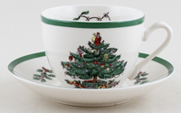 Spode Christmas Tree colour Teacup and Saucer