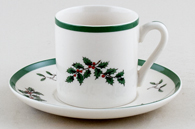 Spode Christmas Tree colour Coffee Cup and Saucer
