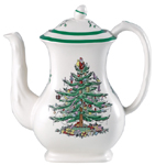 Spode Christmas Tree colour Coffee Pot
