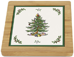Spode Christmas Tree colour Teapot Stand