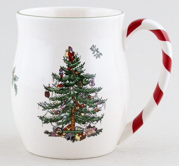 Spode Christmas Tree colour Mug with Peppermint Handle