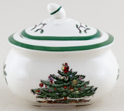 Spode Christmas Tree colour Sugar with Cover
