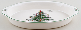 Spode Christmas Tree colour Gratin Dish ovenproof