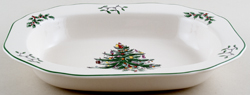 Spode Christmas Tree colour Vegetable Dish
