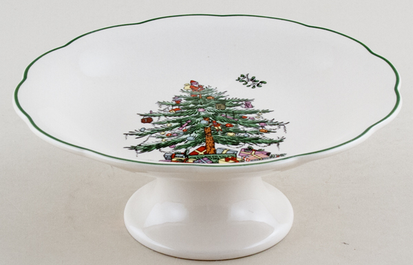 Spode Christmas Tree colour Dish Footed