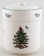 Spode Christmas Tree colour Storage Jar