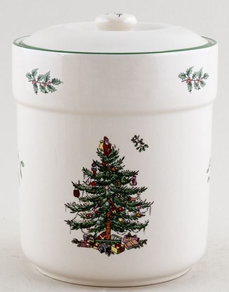 Spode Christmas Tree colour Sweet or Biscuit  Jar