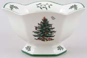 Spode Christmas Tree colour Footed Bowl hexagonal