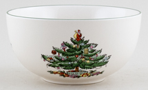 Spode Christmas Tree colour Fruit Bowl