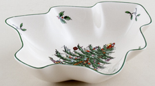 Spode Christmas Tree colour Dish tree shape