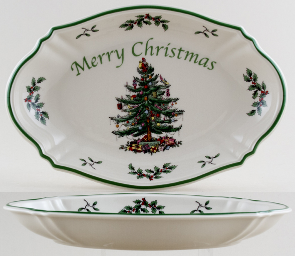 Spode Christmas Tree colour Tray Serving