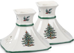 Spode Christmas Tree colour Candlesticks Pair