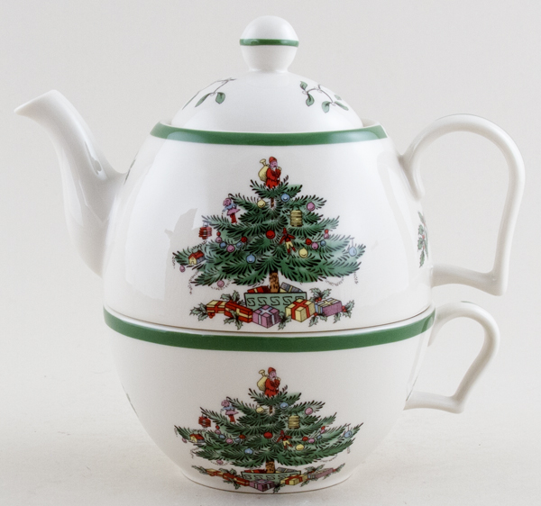 Spode Christmas Tree colour Tea for One Set