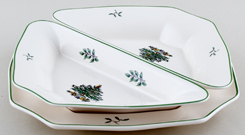 Spode Christmas Tree colour Party Dishes and Tray