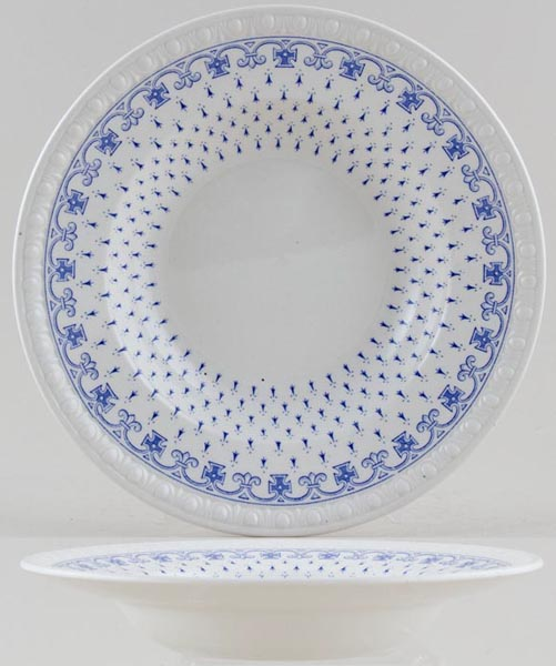 Spode Ermine Soup or Dessert Plate c1940s