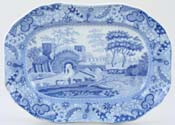 Spode Castle Meat Dish or Platter small  c1815