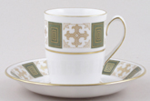 Spode Persia green Coffee Cup and Saucer c1960s