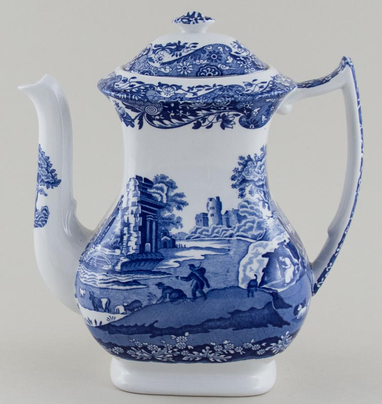 Blue Italian Coffee Maker : Spode Italian Coffee Pot c1989 Lovers of Blue and White