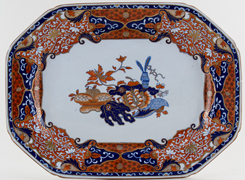 Spode Frog colour Meat Dish or Platter c1820s