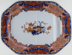 Spode Frog colour Meat Dish or Platter with Tree and Well c1850
