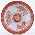 Spode Fitzhugh red Fruit Saucer c1960