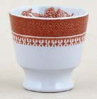 Spode Fitzhugh red Egg Cup c1960s