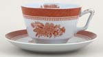 Spode Fitzhugh red Breakfast Cup and Saucer
