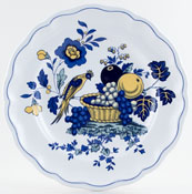 Spode Blue Bird colour Plate c1980s