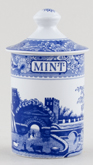 Spode Blue Room Spice Jar Mint Castle c1990s