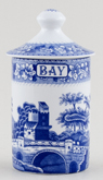 Spode Blue Room Spice Jar Bay Tower c1990s