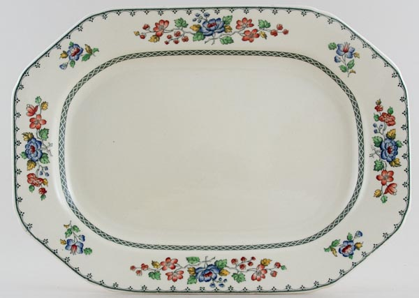 Spode Strathmere colour Meat Dish or Platter c1950s