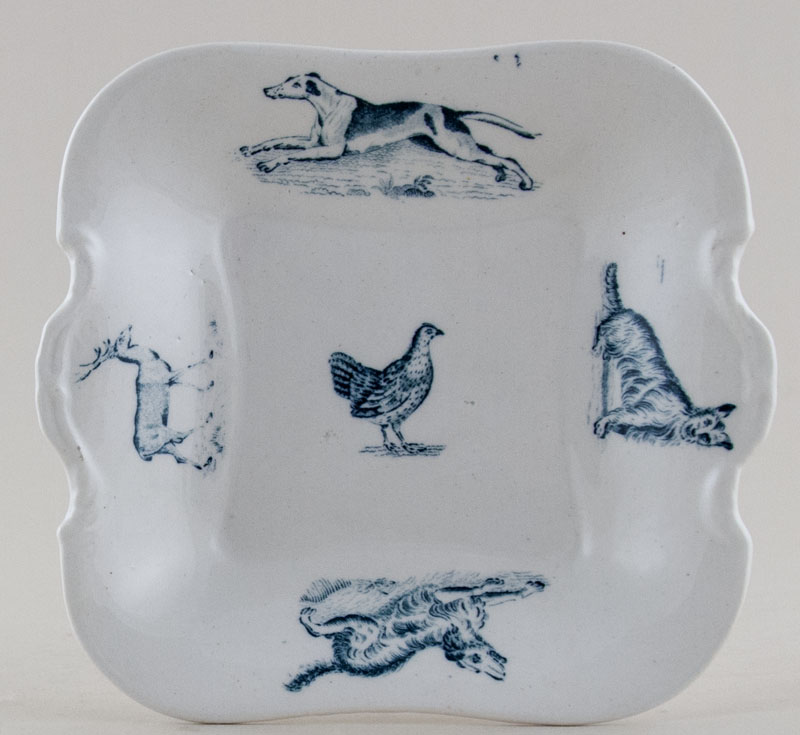 Spode Animals green Toy Bread and Butter Plate c1905