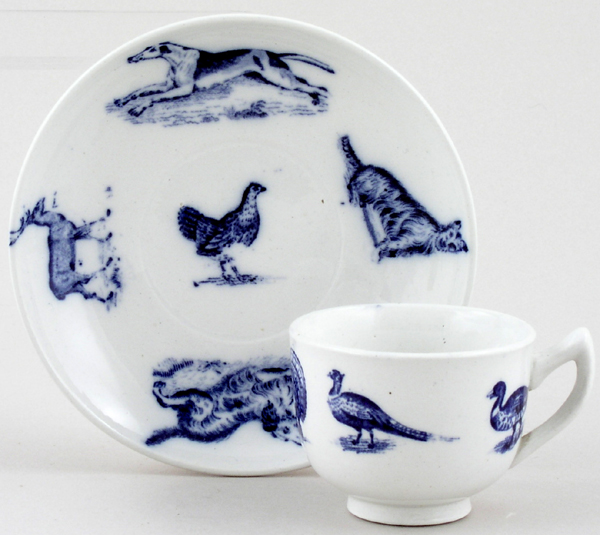 Spode Animals Toy Cup and Saucer c1905
