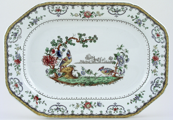 Spode Chelsea colour Meat Dish or Platter c1920