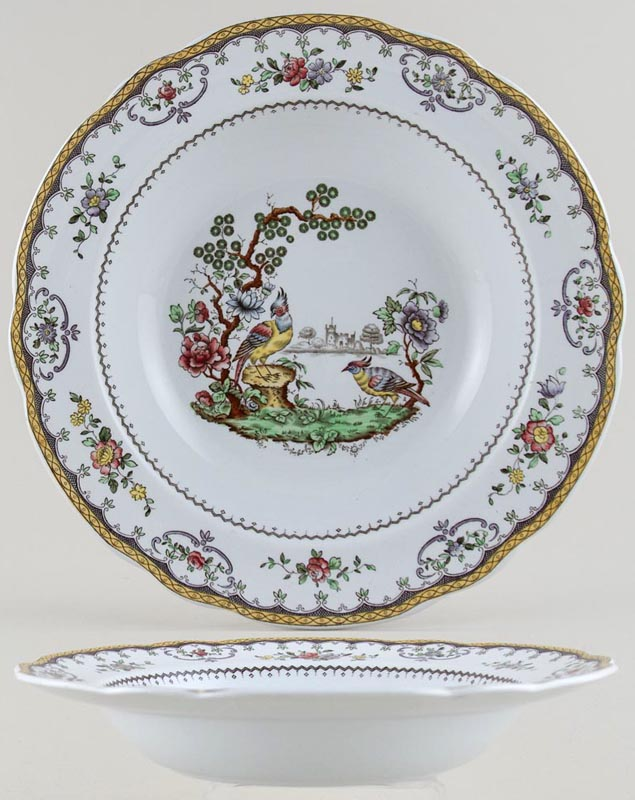 Spode Chelsea colour Soup Plate c1930