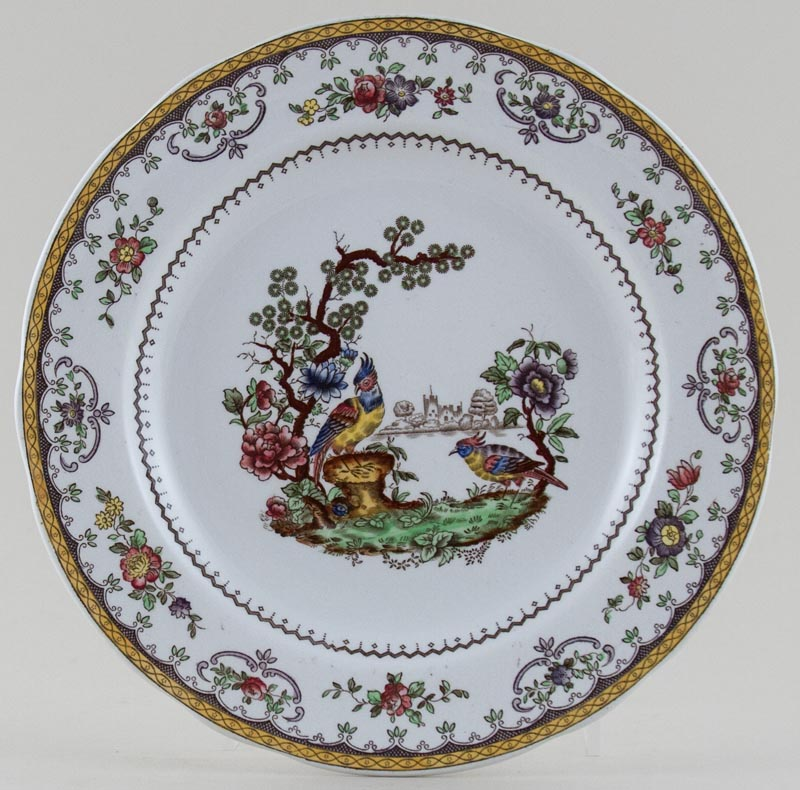 Spode Chelsea colour Plate c1930s and 1950s