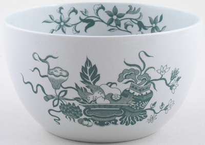Spode Bowpot green Sugar or Slop Bowl c1950s
