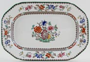 Spode Chinese Rose colour Meat Dish or Platter c1933
