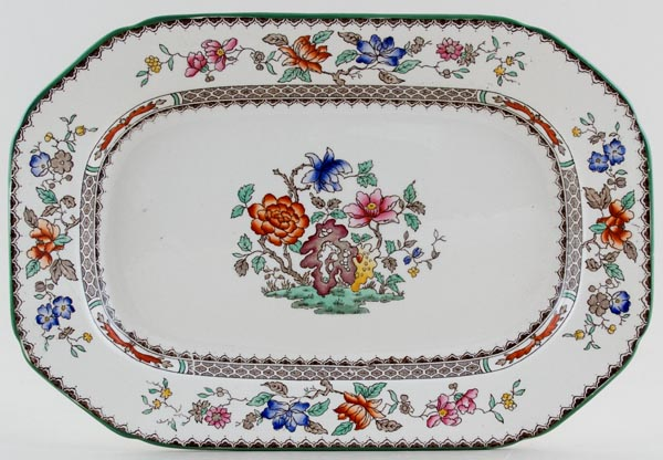 Spode Chinese Rose colour Meat Dish or Platter c1962